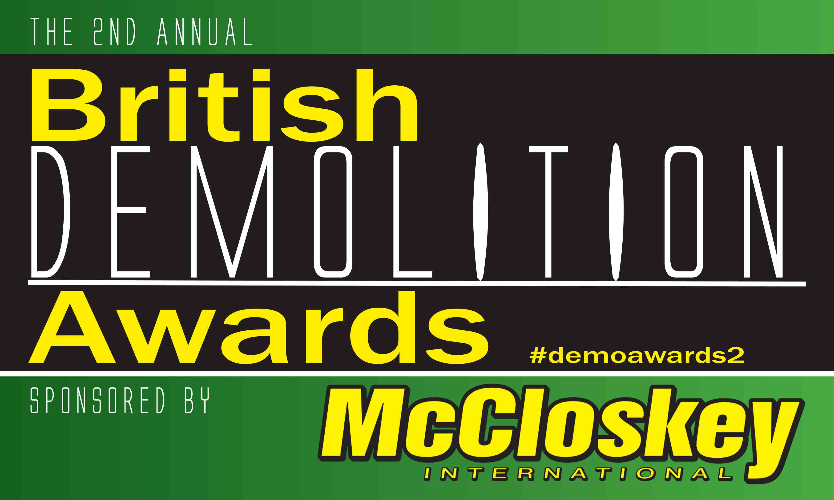 McCloskey International named as principal sponsor for the 2nd annual British Demolition Awards